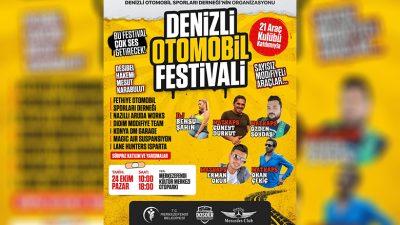 Denizli'de Otomobil Festivali Heyecanı Başlıyor